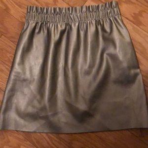 Zara Metallic High Waisted Skirt Size Small